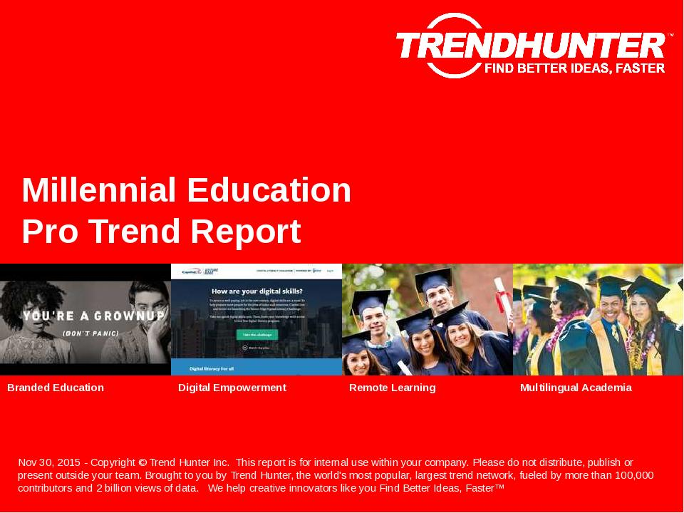 Millennial Education Trend Report Research