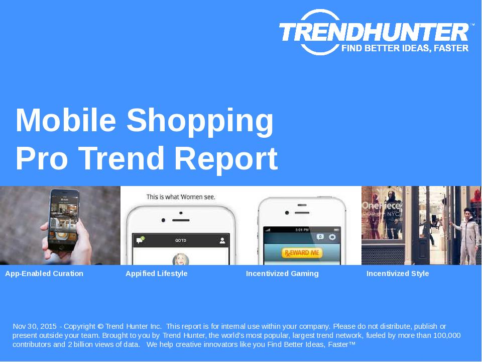 Mobile Shopping Trend Report Research