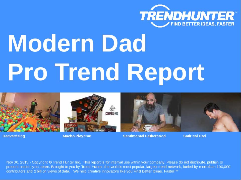 Modern Dad Trend Report Research