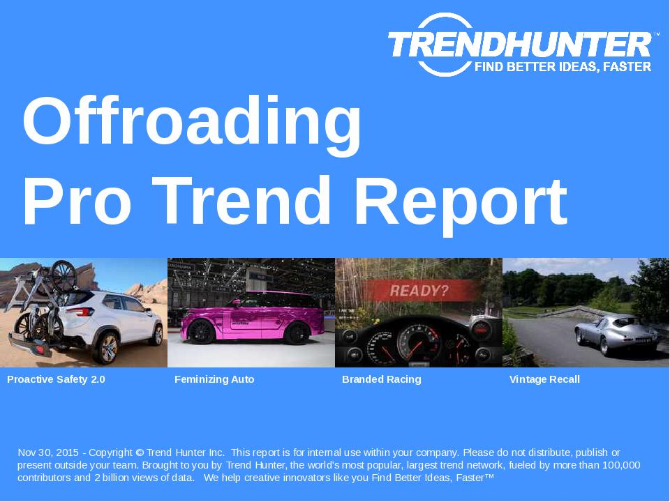 Offroading Trend Report Research