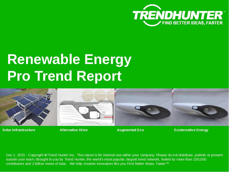 Renewable Energy Trend Report Research