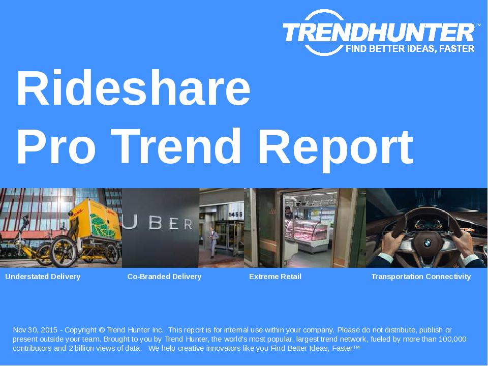Rideshare Trend Report Research