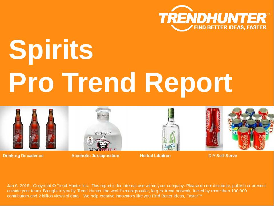 Spirits Trend Report Research