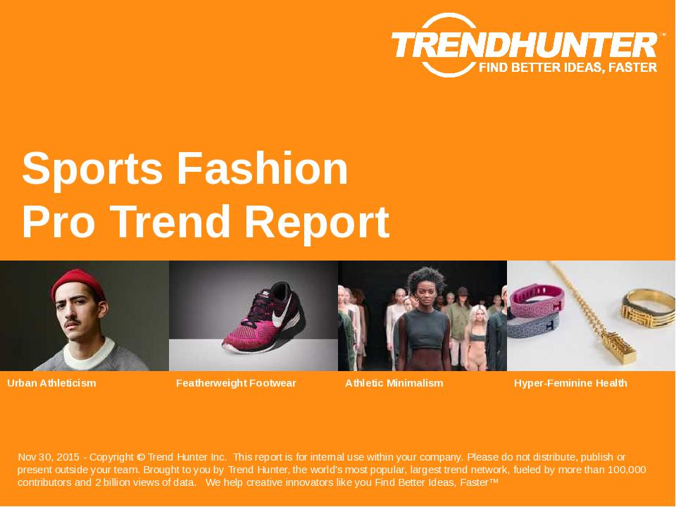 Sports Fashion Trend Report Research