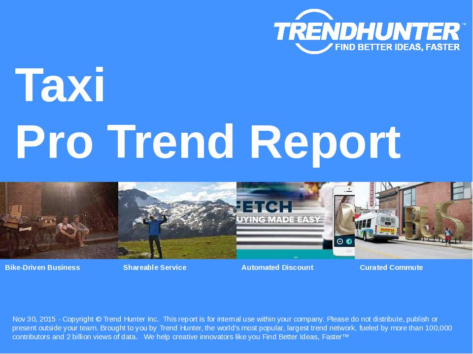 Taxi Trend Report Research