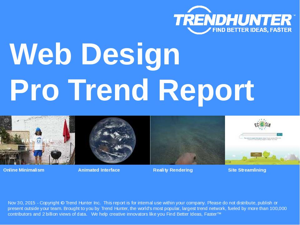 Web Design Trend Report Research