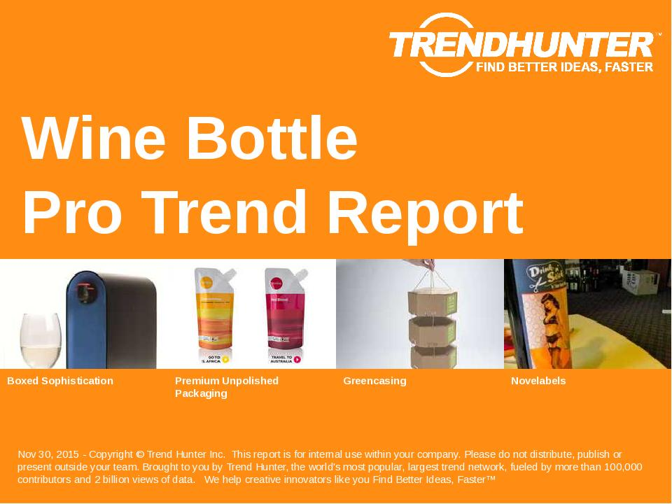 Wine Bottle Trend Report Research