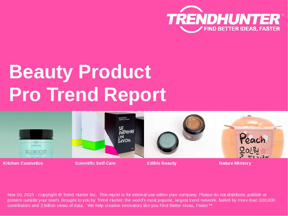 Beauty Product Trend Report Research