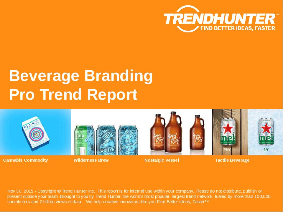 Beverage Branding Trend Report Research
