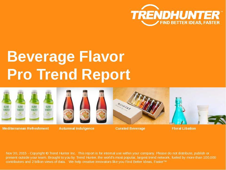 Beverage Flavor Trend Report Research