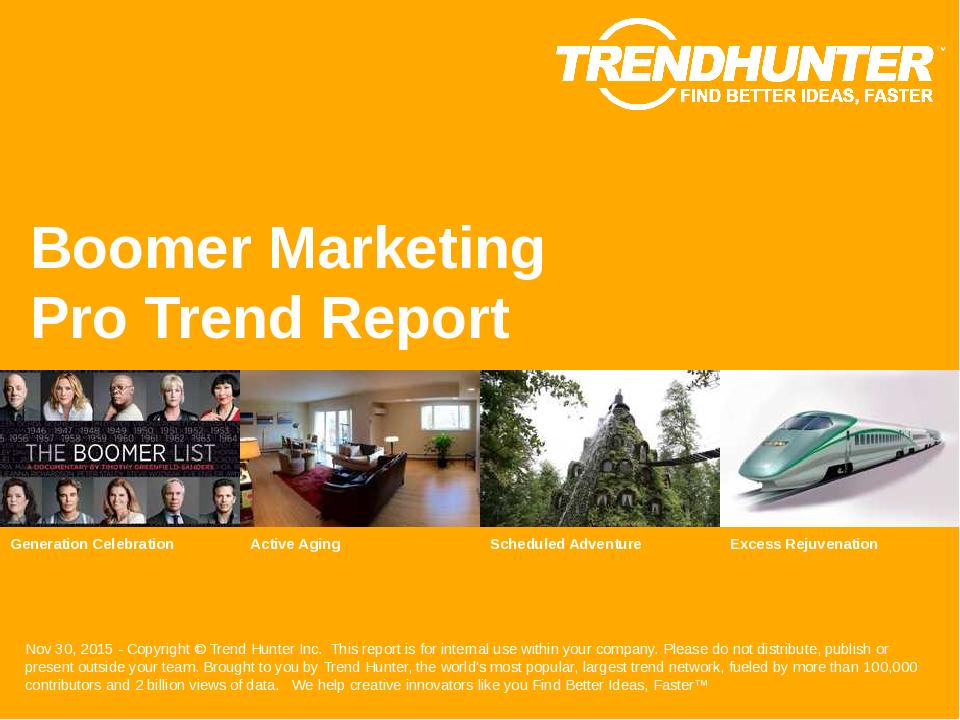 Boomer Marketing Trend Report Research