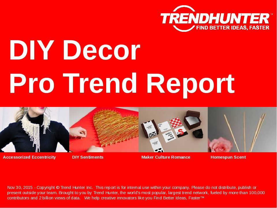 DIY Decor Trend Report Research