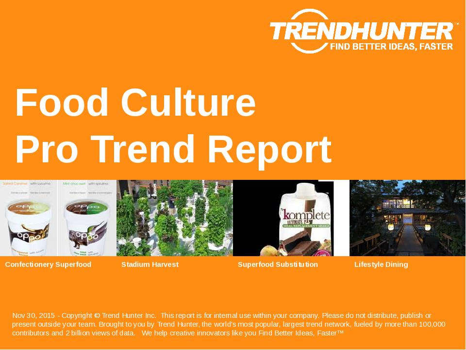 Food Culture Trend Report Research