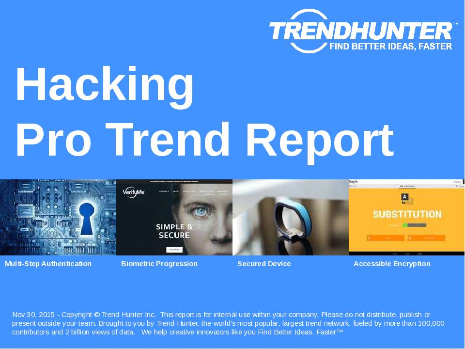 Hacking Trend Report Research