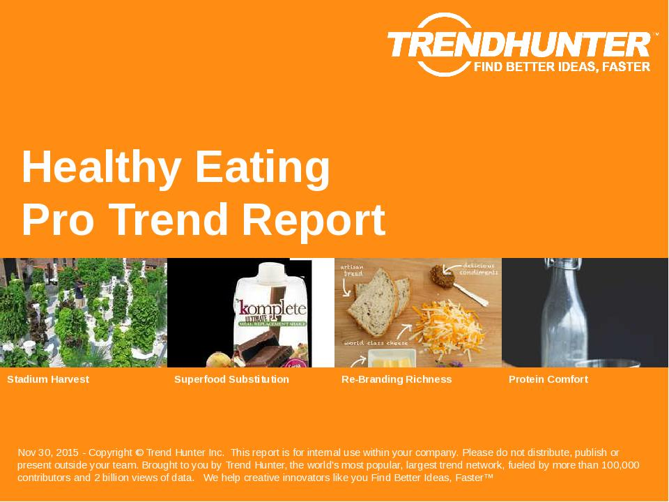 Healthy Eating Trend Report Research