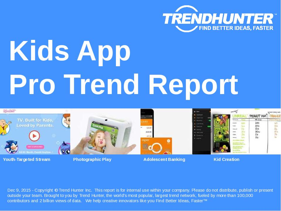 Kids App Trend Report Research