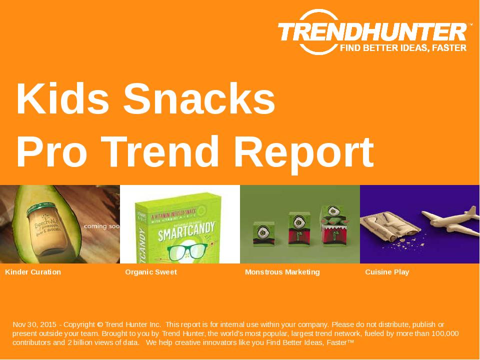 Kids Snacks Trend Report Research