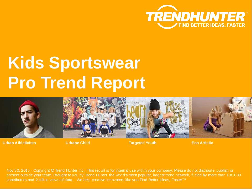 Kids Sportswear Trend Report Research