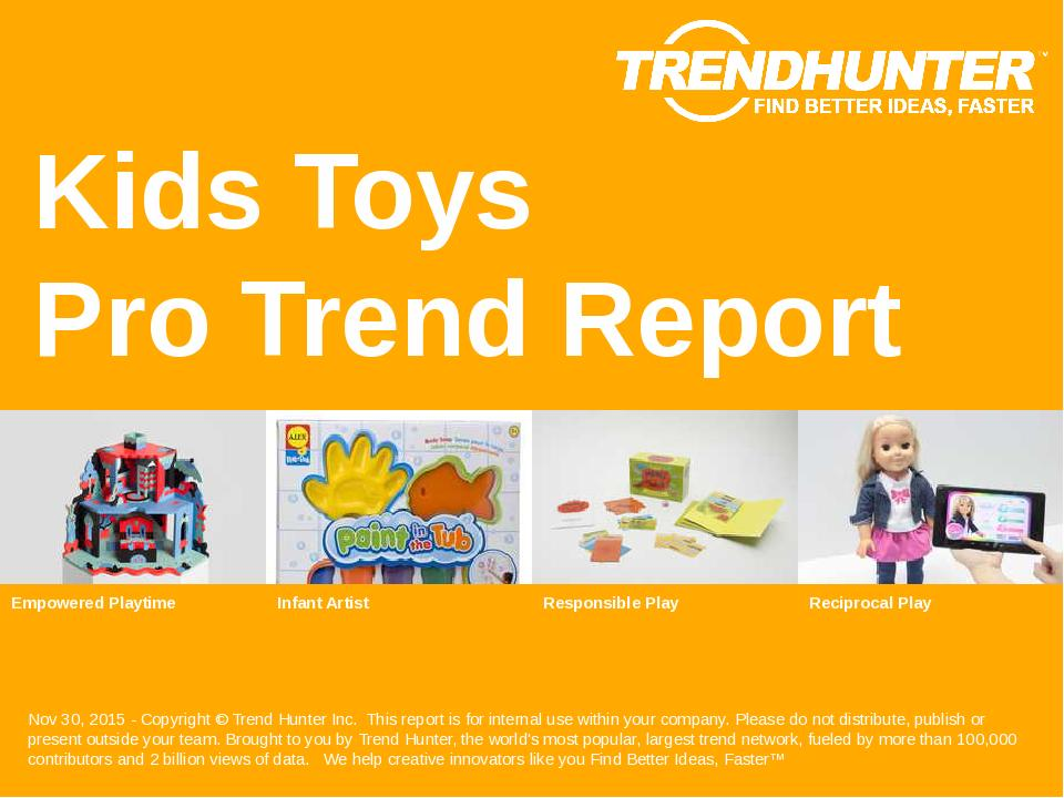 Kids Toys Trend Report Research