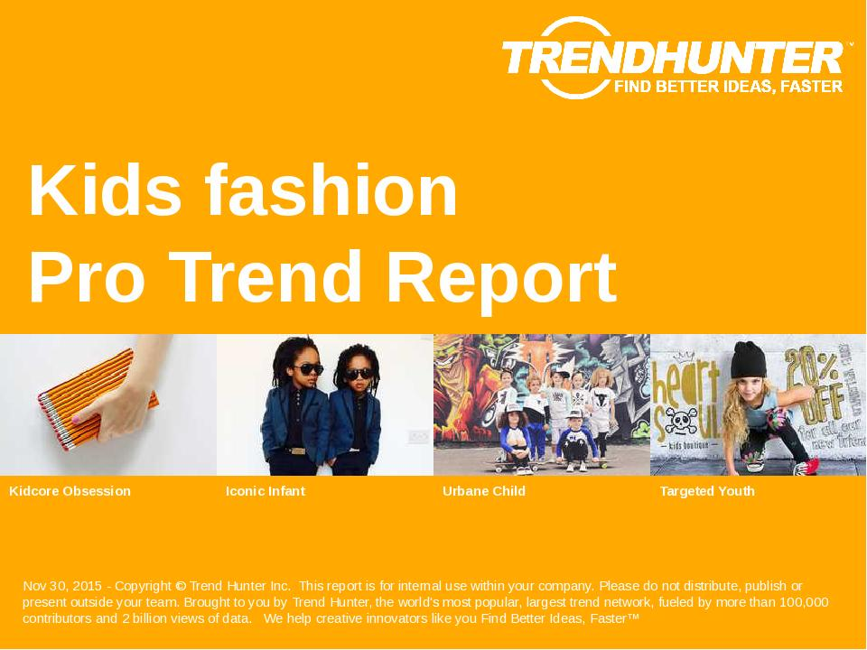 Kids fashion Trend Report Research