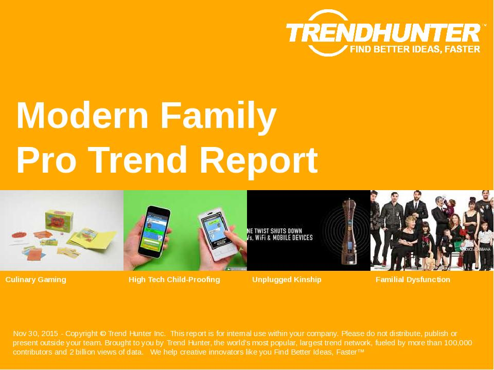 Modern Family Trend Report Research