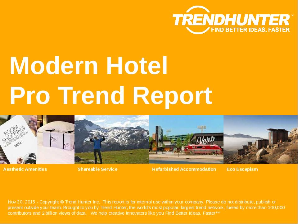 Modern Hotel Trend Report Research