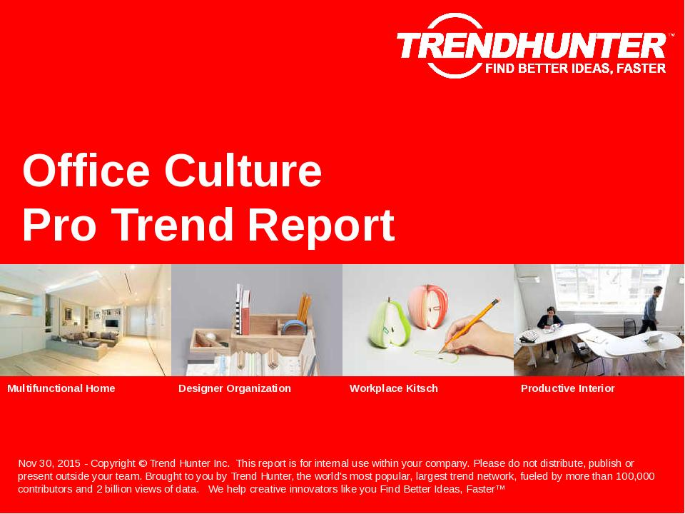Office Culture Trend Report Research
