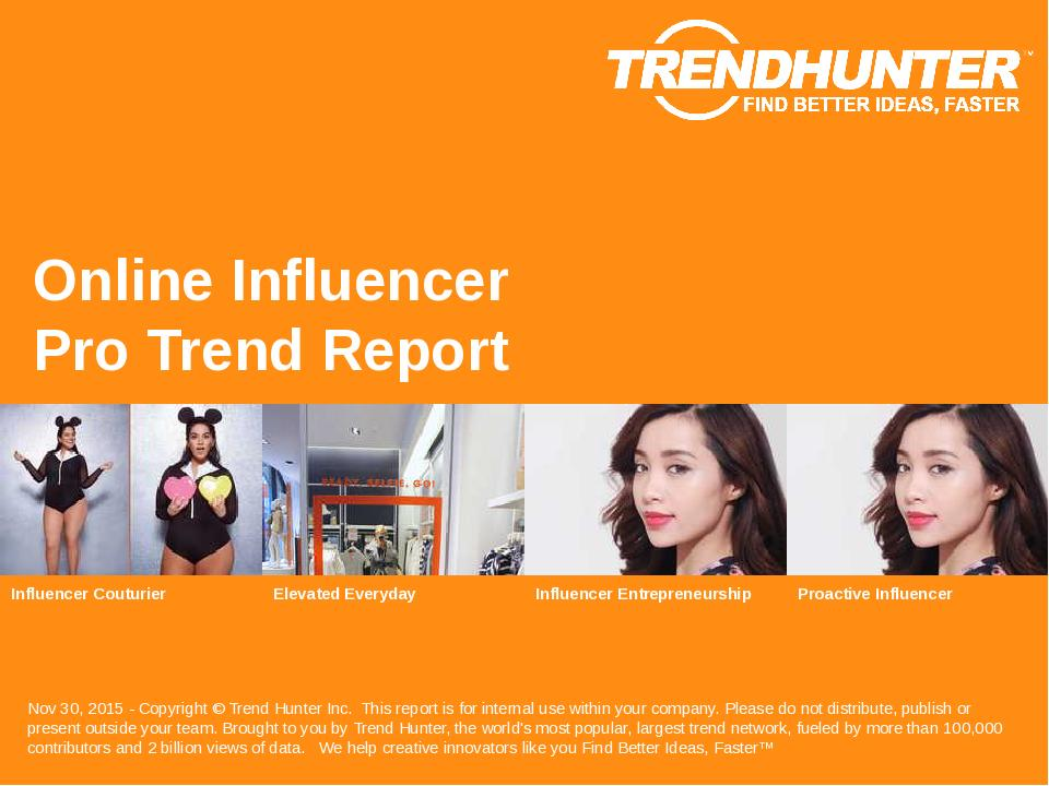 Online Influencer Trend Report Research