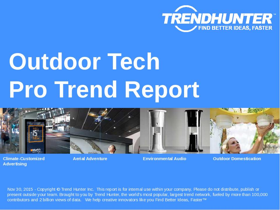 Outdoor Tech Trend Report Research