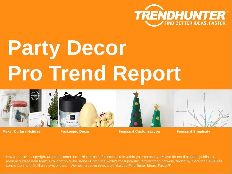 Party Decor Trend Report Research