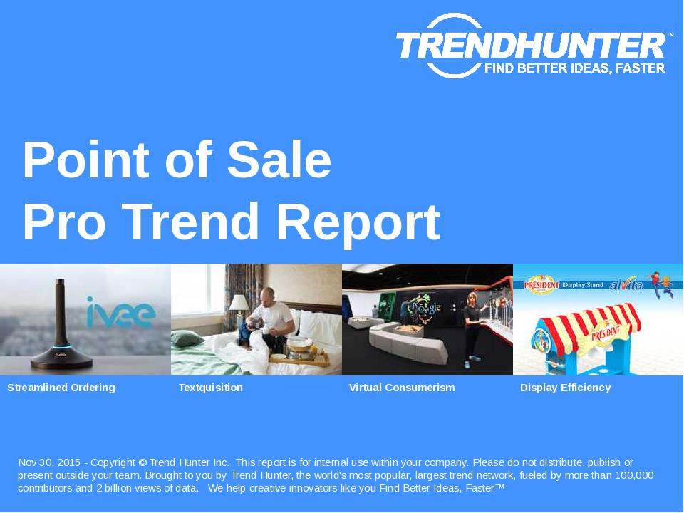 Point of Sale Trend Report Research