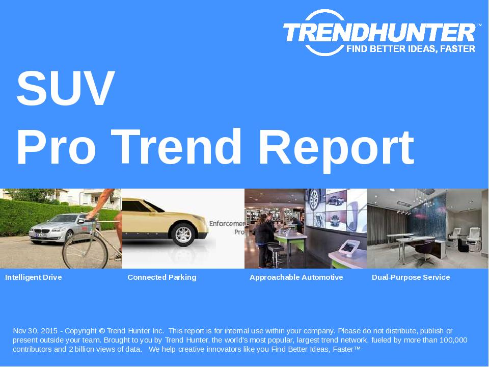 SUV Trend Report Research