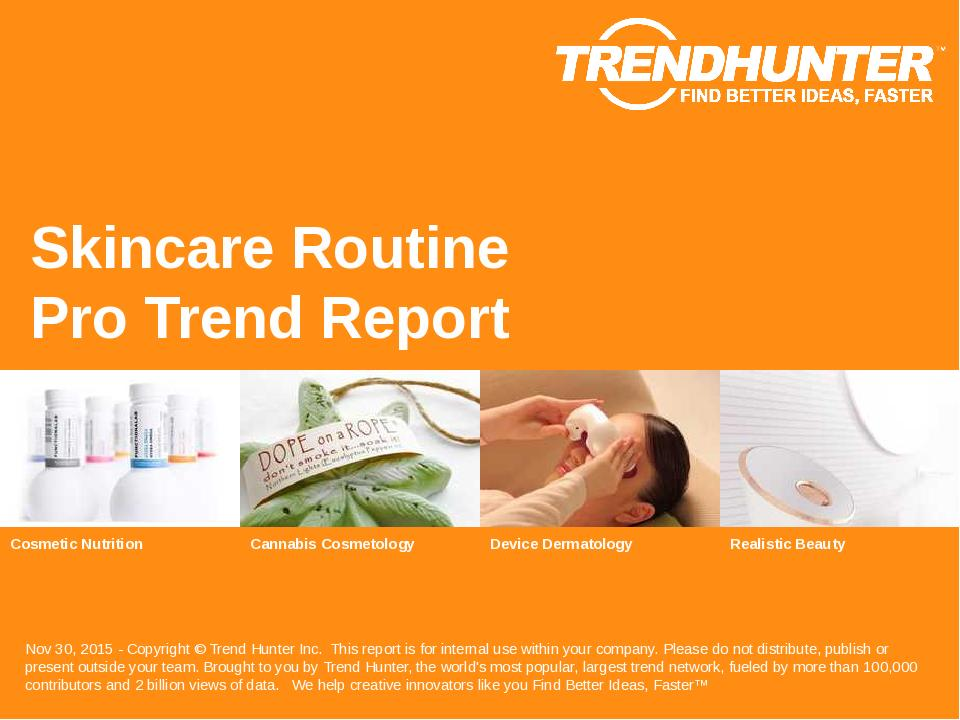 Skincare Routine Trend Report Research