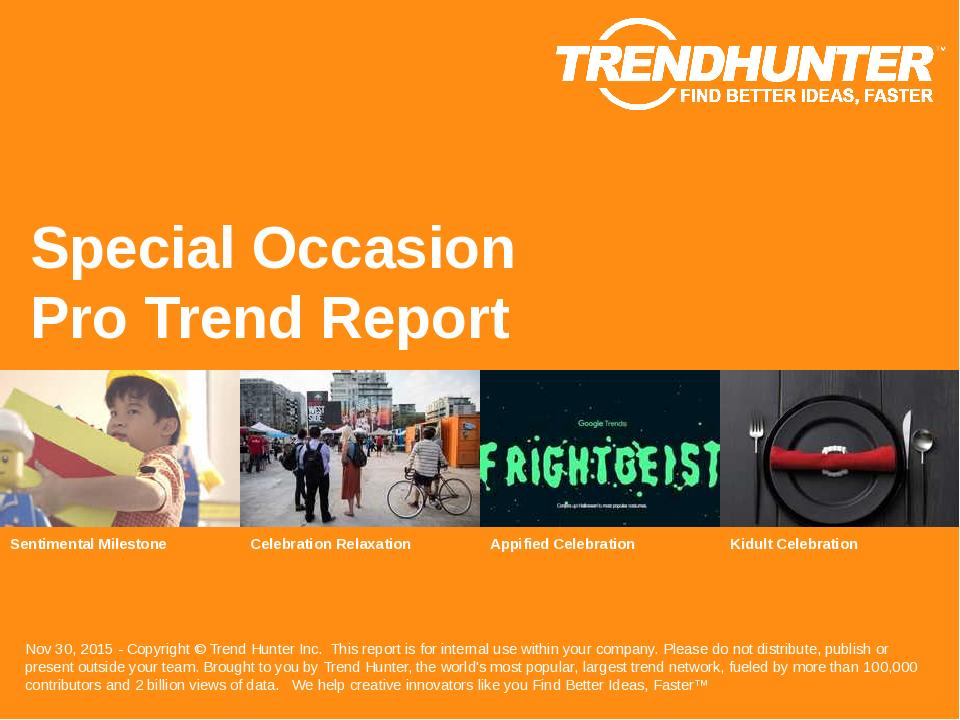 Special Occasion Trend Report Research