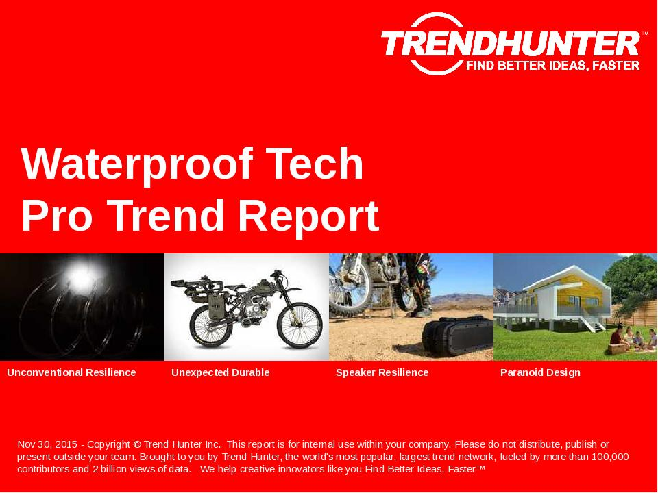 Waterproof Tech Trend Report Research