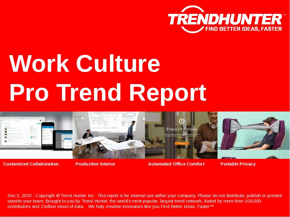 Work Culture Trend Report Research