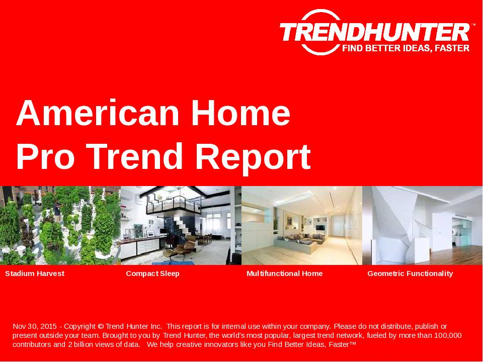 American Home Trend Report Research
