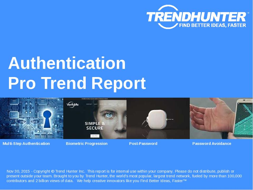 Authentication Trend Report Research