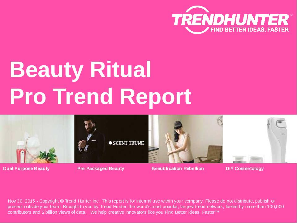 Beauty Ritual Trend Report Research