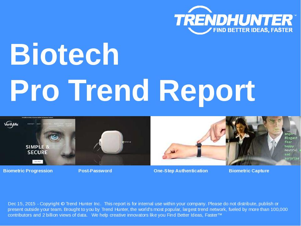Biotech Trend Report Research