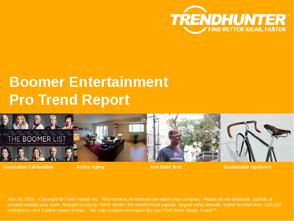 Boomer Entertainment Trend Report Research