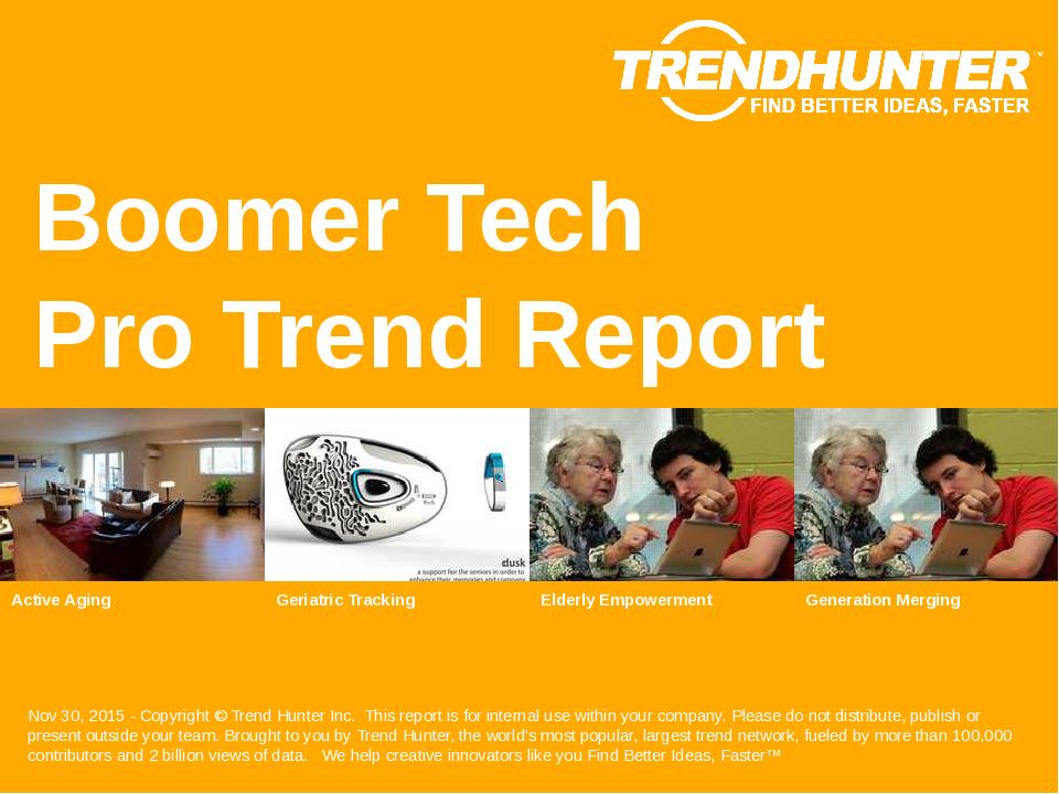 Boomer Tech Trend Report Research