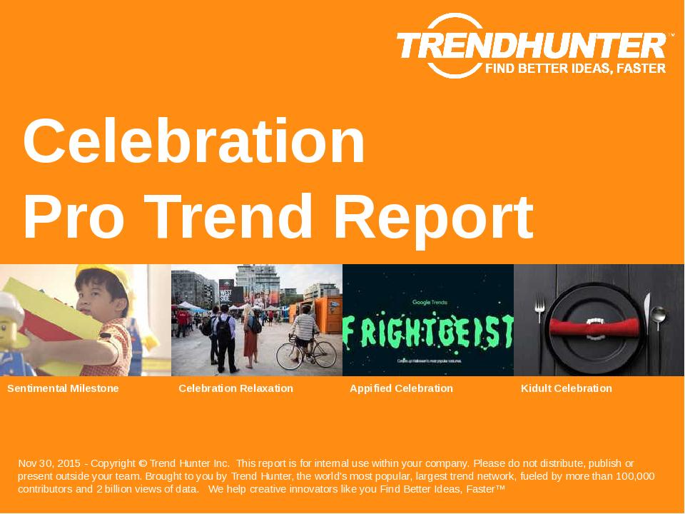 Celebration Trend Report Research