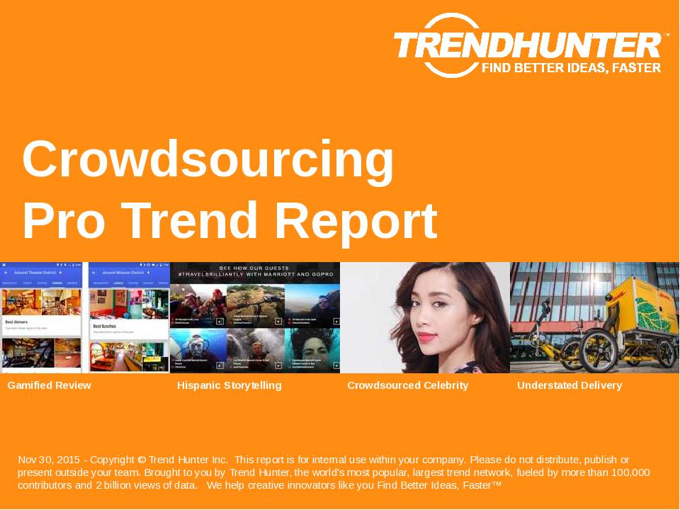 Crowdsourcing Trend Report Research