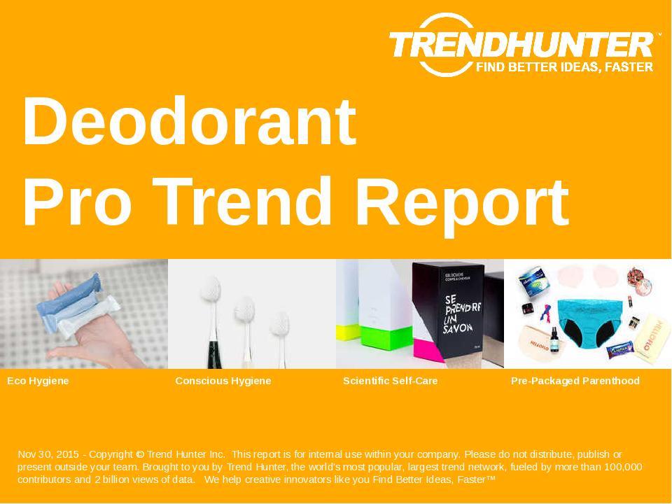 Deodorant Trend Report Research