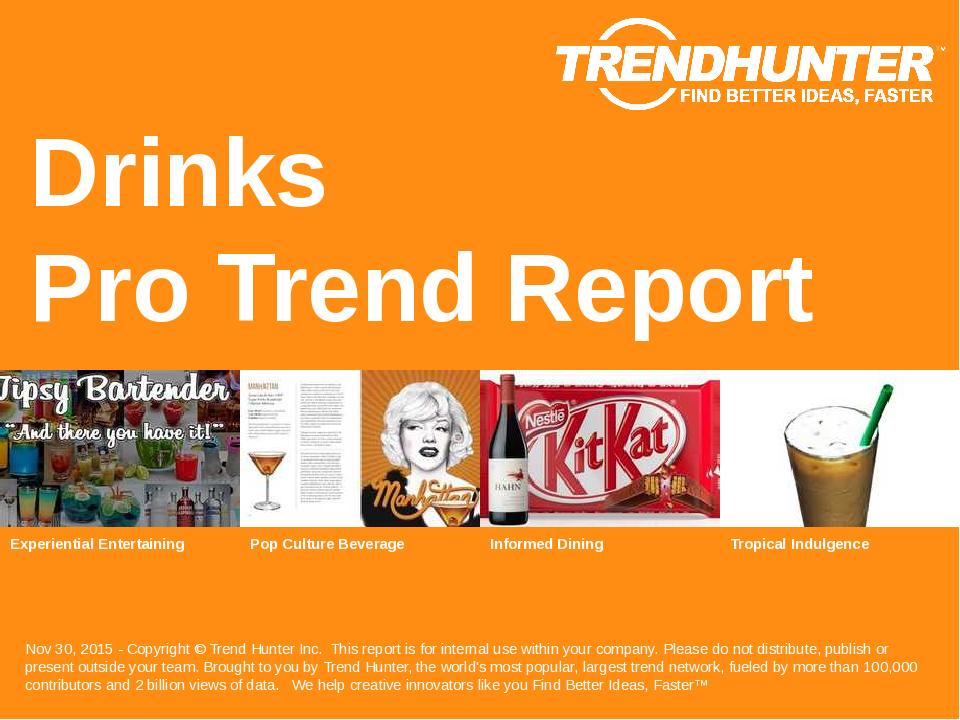 Drinks Trend Report Research