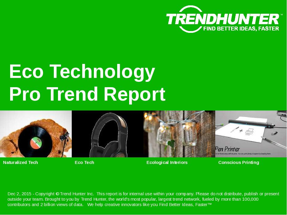 Eco Technology Trend Report Research