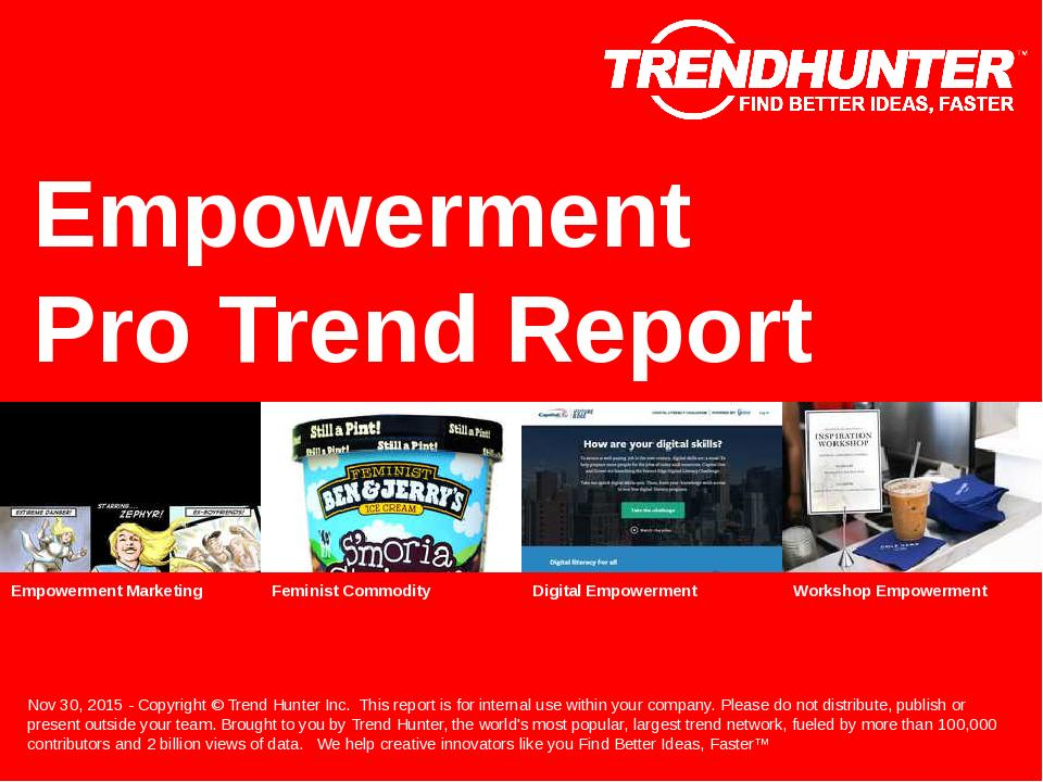 Empowerment Trend Report Research
