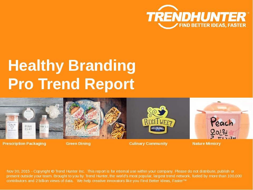 Healthy Branding Trend Report Research