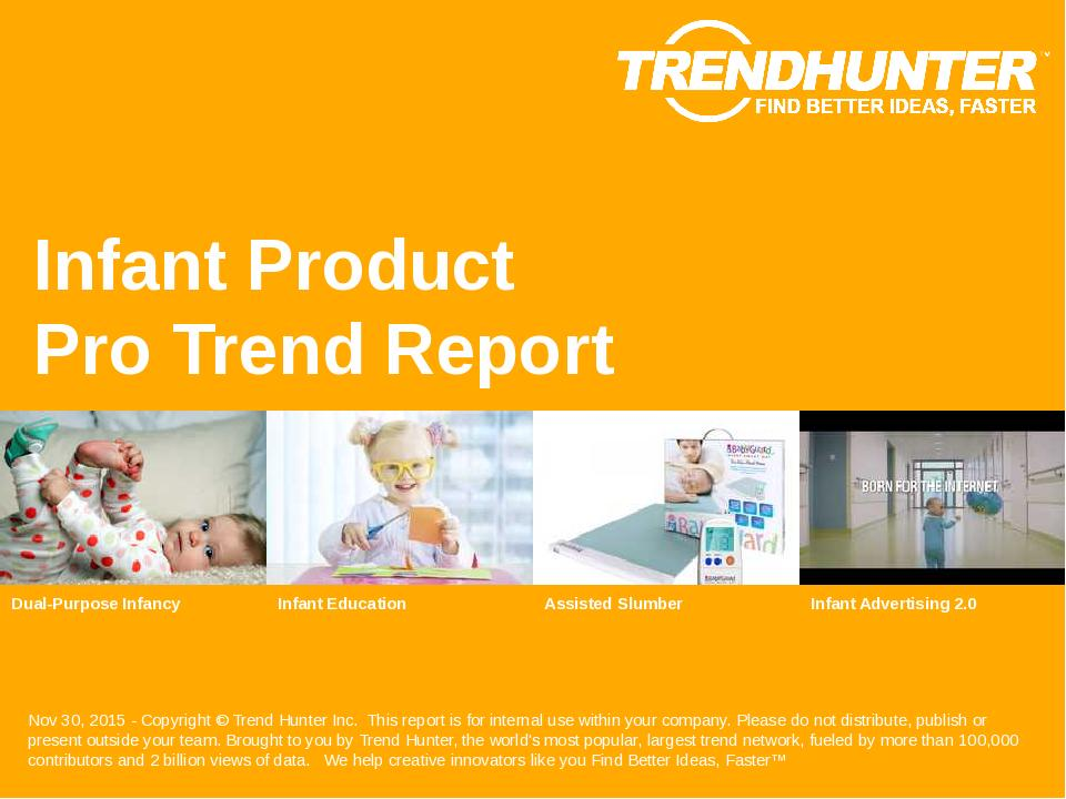 Infant Product Trend Report Research